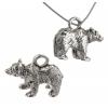 Pendant Bear Antique Silver